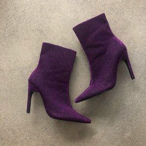 Zara Purple Glitter Bootie